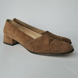 Salvatore Ferragamo Quilted Shoes Size 10 Narow.